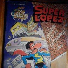 Cómics: SUPER LÓPEZ - Nº 24 - LA AVENTURA ESTÁ EN LA ESQUINA - OLÉ - EDICIONES B - X JAN -. Lote 230484770
