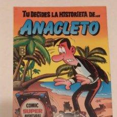 Cómics: TU DECIDES LA HISTORIETA DE ANACLETO - EL LIO DE LAS MALETAS - EDICIONES B. Lote 233756420