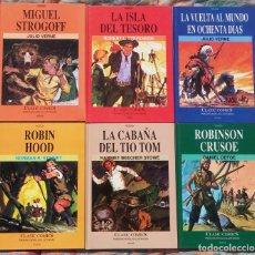 """Cómics: LOTE """"CLASIC COMICS, FAMOSAS NOVELAS ILUSTRADAS"""", 6 VOLÚMENES DEL 1 AL 6, ED. B, 1991 // VERNE DEFOE. Lote 234523155"""