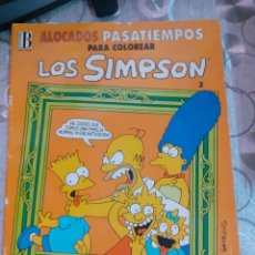 Cómics: LIBRO SIMPSONS PASATIEMPOS COLOREAR. Lote 235786045
