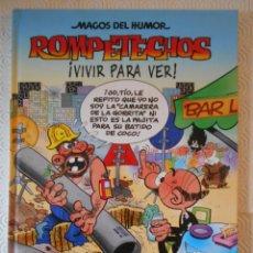 Cómics: ROMPETECHOS. VIVIR PARA VER. FRANCISCO IBAÑEZ. MAGOS DEL HUMOR Nº 128. EDICIONES B. 2009. TAPA DURA.. Lote 237271200