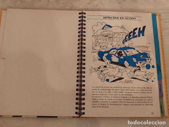 Cómics: WALT DISNEY - MANUAL PARA DETECTIVES DE MICKEY - ED. B - 1993 - 120 PAGINAS - Foto 4 - 237379215