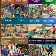 Cómics: LOTE 12 TEBEOS COMICS TBO ZIPI Y ZAPE 13 RUE SUPER LOPEZ PEPE GOTERA JABATO EL CAPITAN TRUENO. Lote 237964250