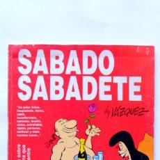 Cómics: SABADO SABADETE. VÁZQUEZ. ED. GLENAT. Lote 238538105