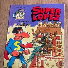 Comics : SUPER LOPEZ OLE Nº 21. 1ª EDICION RELIEVE 1993, EDICIONES B. NUEVO. Lote 238870405