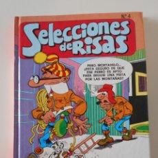 Cómics: SELECCIONES DE RISAS N 4. EDICIONES B. TAPA DURA. COLOR. CONTIENE 4 TEBEOS: MORTADELO SUPER 5, ZIPI. Lote 239761415