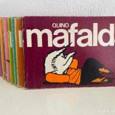 Cómics: LOTE 11 EJEMPLARES MAFALDA (DEL 0 AL 10, COMPLETA) - QUINO - LUMEN - GCH. Lote 242484055