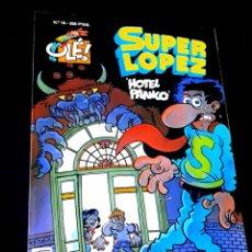 Cómics: CASI EXCELENTE ESTADO 1° PRIMERA EDICION SUPER LOPEZ 19 COMICS EDICIONES B. Lote 244481845