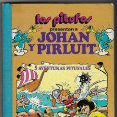Cómics: LOS PITUFOS PRESENTAN A JOHAN Y PIRLUIT VOL. 4. Lote 244609990