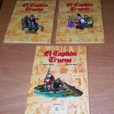 Cómics: EL CAPITÁN TRUENO - VÍCTOR MORA - FUENTES MAN - VOLUMEN I,2 Y 3 - EDICIONES B. Lote 245063510