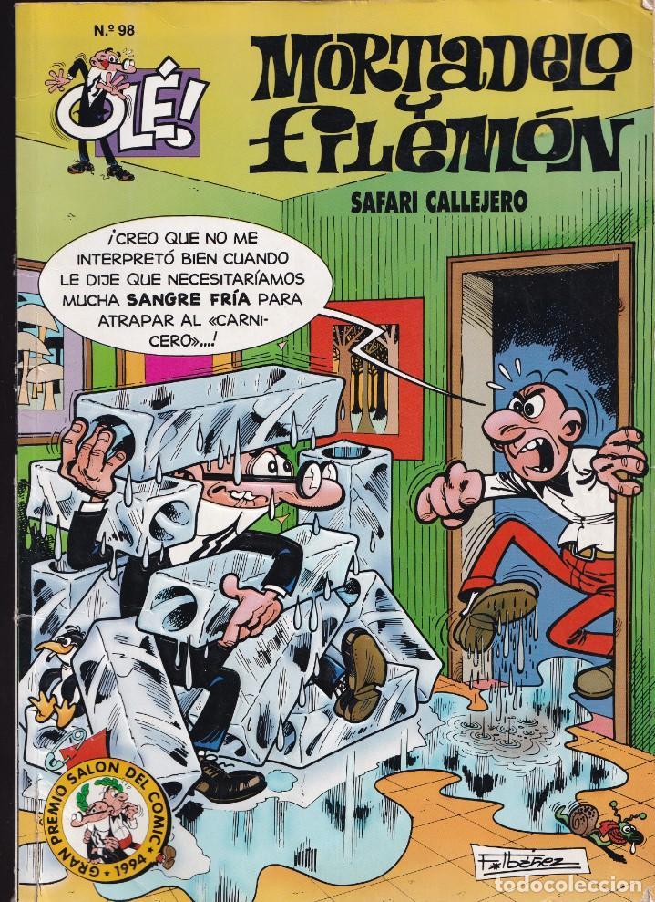 SAFARI CALLEJERO - MORTADELO Y FILEMÓN - COLECCIÓN OLÉ ( RELIEVE ) Nº 98 - EDICIONES B 1995 (Tebeos y Comics - Ediciones B - Humor)