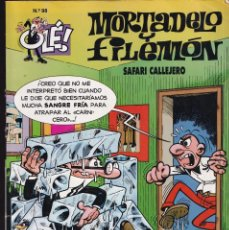 Cómics: SAFARI CALLEJERO - MORTADELO Y FILEMÓN - COLECCIÓN OLÉ ( RELIEVE ) Nº 98 - EDICIONES B 1995. Lote 245449630