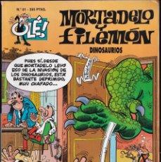 Cómics: DINOSAURIOS - MORTADELO Y FILEMÓN - COLECCIÓN OLÉ - RELIEVE - Nº 81- EDICIONES B 1997. Lote 245460780