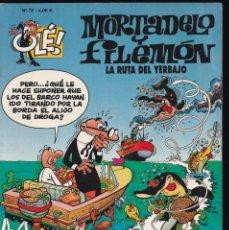 Cómics: LA RUTA DEL YERBAJO - MORTADELO Y FILEMÓN - COLECCIÓN OLÉ - Nº 78 EDICIONES B 2008. Lote 245461945