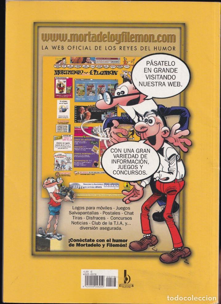 Cómics: LA RUTA DEL YERBAJO - MORTADELO Y FILEMÓN - COLECCIÓN OLÉ - Nº 78 EDICIONES B 2008 - Foto 2 - 245461945