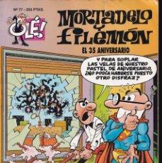Cómics: EL 35 ANIVERSARIO - MORTADELO Y FILEMÓN - COLECCIÓN OLÉ - RELIEVE - Nº 77 EDICIONES B 1994. Lote 245462295