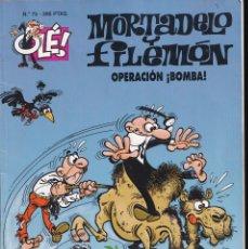 Cómics: OPERACIÓN BOMBA - MORTADELO Y FILEMÓN - COLECCIÓN OLÉ - RELIEVE - Nº 75 EDICIONES B 1997. Lote 245462910