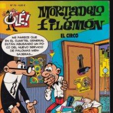 Cómics: EL CIRCO - MORTADELO Y FILEMÓN - COLECCIÓN OLÉ - Nº 72 EDICIONES B 2002. Lote 245463305