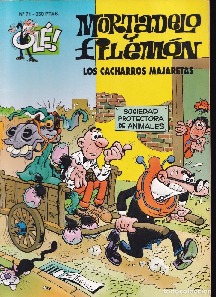 LOS CACHARROS MAJARETAS - MORTADELO Y FILEMÓN - COLECCIÓN OLÉ- RELIEVE - Nº 71 EDICIONES B 1994 (Tebeos y Comics - Ediciones B - Humor)