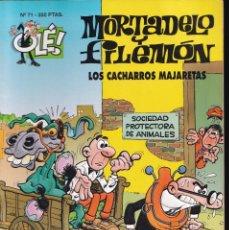 Cómics: LOS CACHARROS MAJARETAS - MORTADELO Y FILEMÓN - COLECCIÓN OLÉ- RELIEVE - Nº 71 EDICIONES B 1994. Lote 245463465