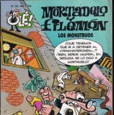 Cómics: LOS MONSTRUOS - MORTADELO Y FILEMÓN - COLECCIÓN OLÉ- RELIEVE - Nº 70 EDICIONES B 1997. Lote 245463780