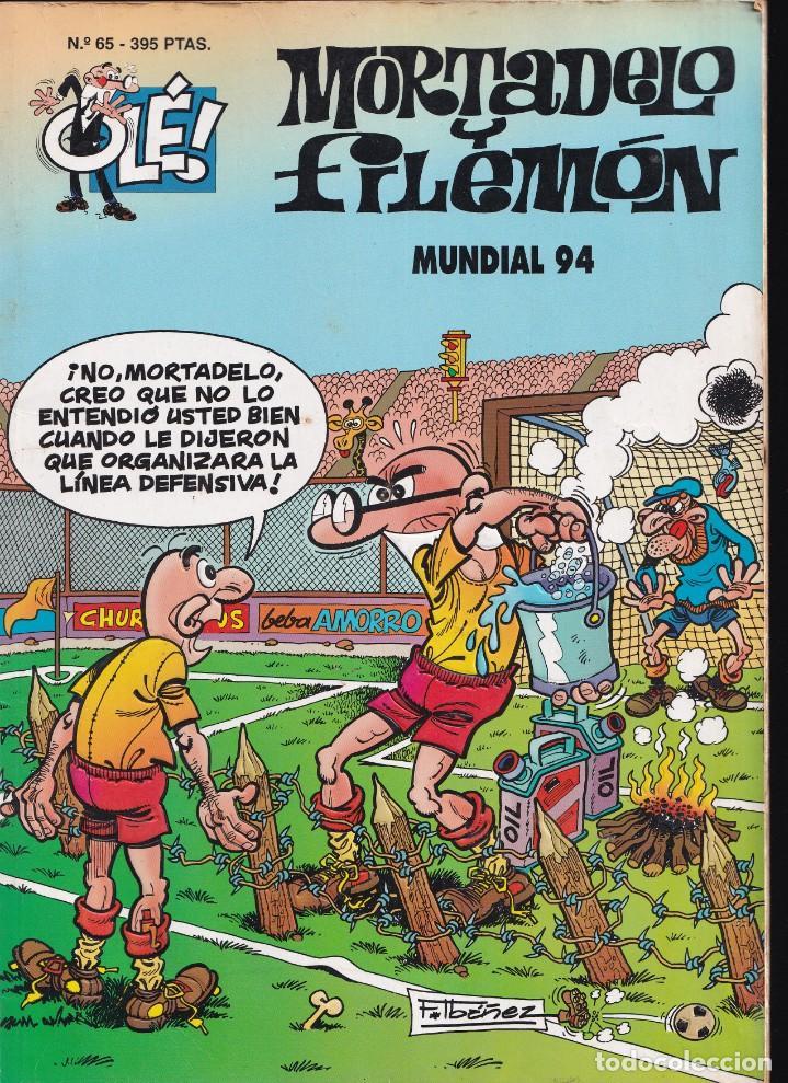 MUNDIAL 94 - MORTADELO Y FILEMÓN - COLECCIÓN OLÉ - RELIEVE - Nº 65 EDICIONES B 1995 (Tebeos y Comics - Ediciones B - Humor)