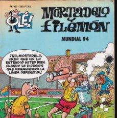 Cómics: MUNDIAL 94 - MORTADELO Y FILEMÓN - COLECCIÓN OLÉ - RELIEVE - Nº 65 EDICIONES B 1995. Lote 245464605