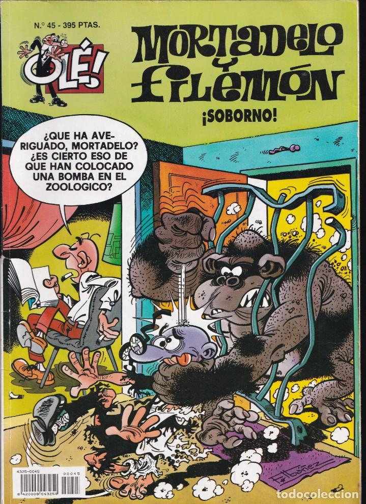 SOBORNO - MORTADELO Y FILEMÓN - COLECCIÓN OLÉ - RELIEVE - Nº 45 EDICIONES B 1996 (Tebeos y Comics - Ediciones B - Humor)