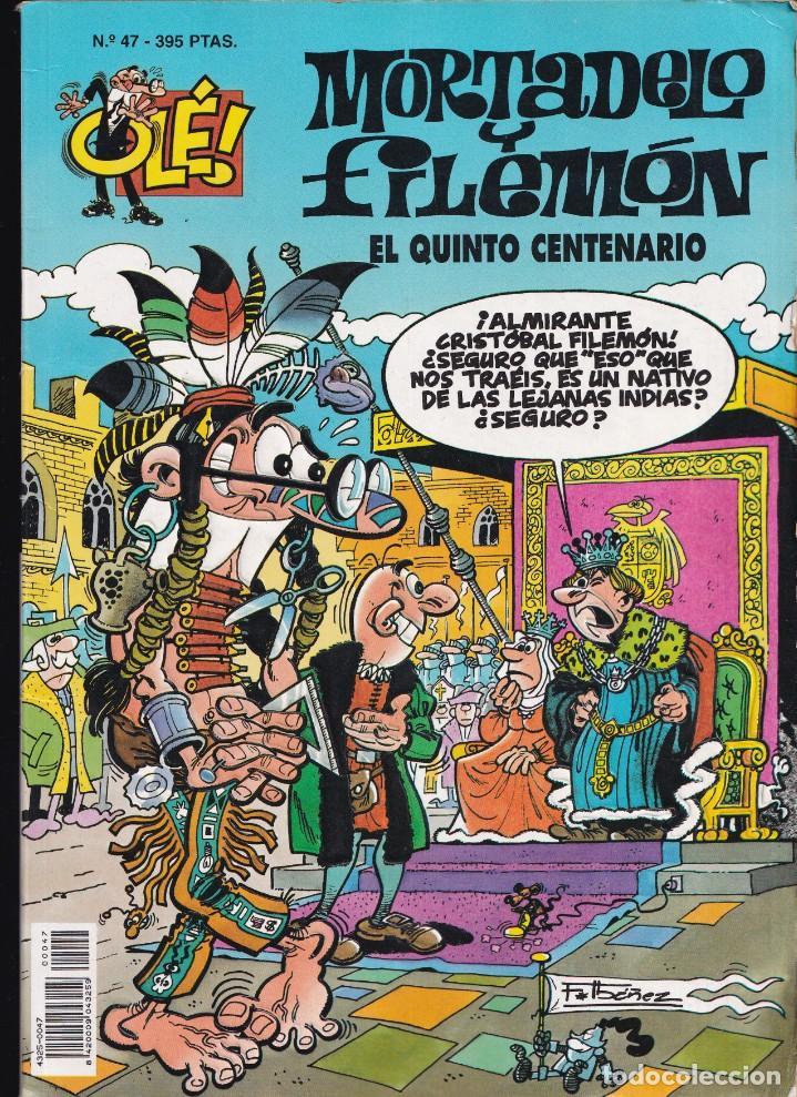 EL QUINTO CENTENARIO - MORTADELO Y FILEMÓN - COLECCIÓN OLÉ- RELIEVE - Nº 47 EDICIONES B 1995 (Tebeos y Comics - Ediciones B - Humor)