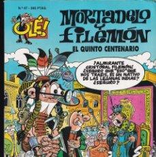 Cómics: EL QUINTO CENTENARIO - MORTADELO Y FILEMÓN - COLECCIÓN OLÉ- RELIEVE - Nº 47 EDICIONES B 1995. Lote 245467415