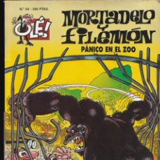 Cómics: PANICO EN EL ZOO - MORTADELO Y FILEMÓN - COLECCIÓN OLÉ- RELIEVE - Nº 54 EDICIONES B 1997. Lote 245467840