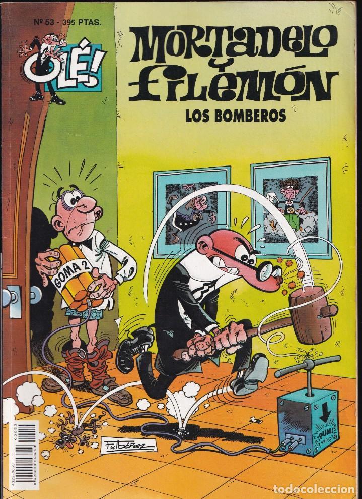 LOS BOMBEROS - MORTADELO Y FILEMÓN - COLECCIÓN OLÉ - RELIEVE - Nº 53 EDICIONES B 1997 (Tebeos y Comics - Ediciones B - Humor)