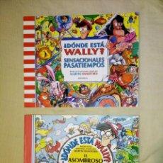 Cómics: LOTE DE 2 ANTIGUOS LIBROS DE PASATIEMPOS DONDE ESTÁ WALLY ? NÚMEROS 1 Y 3 - EDICIONES B 1993 1995. Lote 245746185