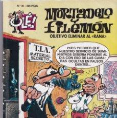 Cómics: OBJETIVO ELIMINAR AL RANA - MORTADELO Y FILEMÓN ( RELIEVE ) - OLÉ - Nº 30 - EDICIONES B 1996. Lote 246904735