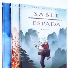 Cómics: SABLE Y ESPADA 1 A 3. COMPLETA (CHAUVEL / BOIVIN / ARALDI) B, 2008. OFRT. Lote 249549200