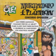 Cómics: MORTADELO Y FILEMO: CONCURSO OPOSICIÓN. EDICIONES B 1997.. Lote 249205070