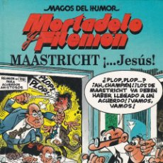 Cómics: MORTADELO Y FILEMO: MAASTRICHT ¡....JESÚS¡. EDI. B 1993.PRIMERA EDICIÓN. COLECCION MAGOS DEL HUMOR. Lote 249214705