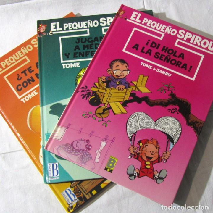 3 NÚMEROS (1 + 2 +3) DE EL PEQUEÑO SPIROU, EDICIONES B 1990-1992-1993, TAPA DURA (Tebeos y Comics - Ediciones B - Humor)