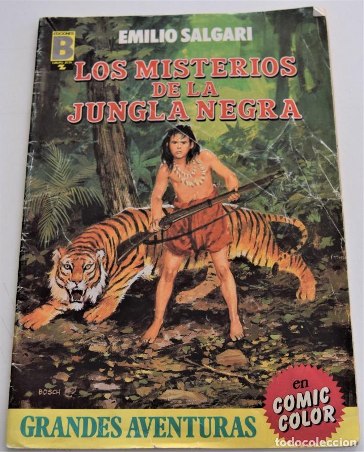 LOS MISTERIOS DE LA JUNGLA NEGRA - EMILIO SALGARI - GRANDES AVENTURAS Nº 5 - EDICIONES B (Tebeos y Comics - Ediciones B - Clásicos Españoles)