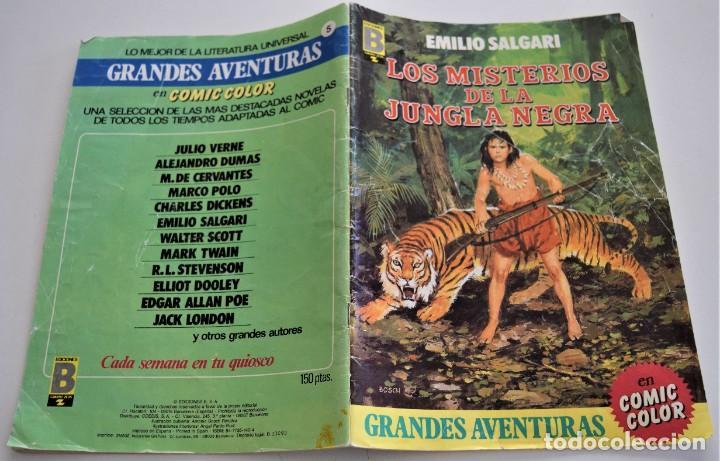 Cómics: LOS MISTERIOS DE LA JUNGLA NEGRA - EMILIO SALGARI - GRANDES AVENTURAS Nº 5 - EDICIONES B - Foto 2 - 249370200