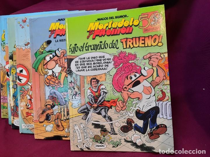 """LOTE 6 COMICS MORTADELO Y FILEMON """" MAGOS DEL HUMOR """" TAPA DURA 50 ANIVERSARIO (Tebeos y Comics - Ediciones B - Clásicos Españoles)"""