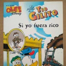 Cómics: OLÉ! DISNEY N°17: LA JUVENTUD DE TÍO GILITO/SI YO FUERA RICO (EDICIONES B, 1996).. Lote 252955765