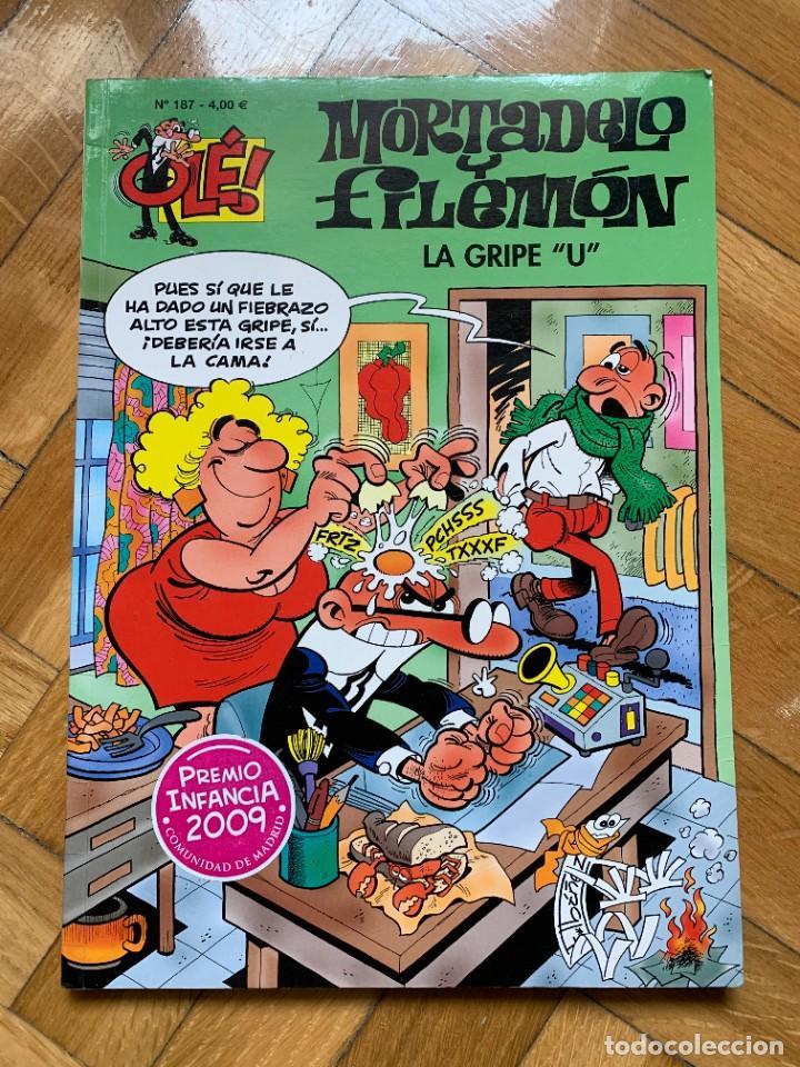"""MORTADELO Y FILEMÓN COLECCIÓN OLÉ Nº 187: LA GRIPE """"U"""" (Tebeos y Comics - Ediciones B - Humor)"""