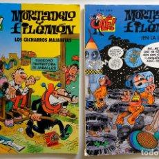 Cómics: OLÉ Nº 71 Y 184- MORTADELO Y FILEMON EN LA LUNA + LOS CACHARROS MAJARETAS. EDICIONES B.. Lote 257716370
