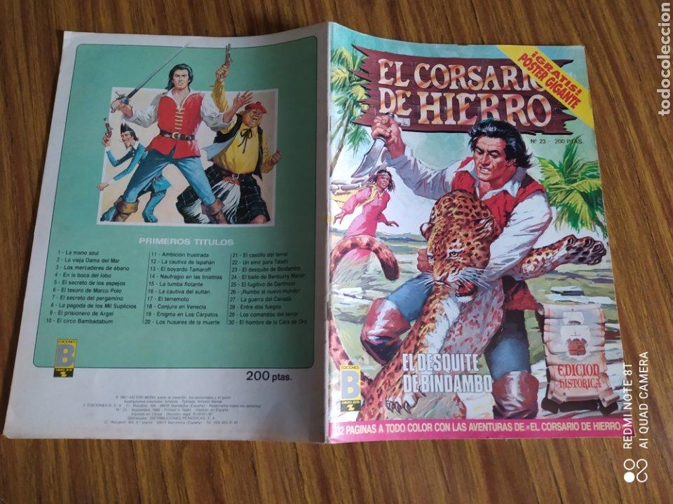 Cómics: El Corsario de Hierro, número 23. Contiene el póster. - Foto 4 - 260527180