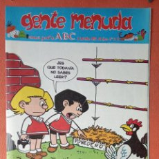 Cómics: GENTE MENUDA. SEMANARIO JUVENIAL DE ABC. NOVIEMBRE 1995. N.º312. EDICIONES B, S.A.. Lote 261569740