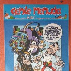 Cómics: GENTE MENUDA. SEMANARIO JUVENIL DE ABC. AGOSTO 1995. N.º302. EDICIONES B, S.A.. Lote 261570565