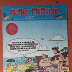 Cómics: GENTE MENUDA. SEMANARIO JUVENIL DE ABC. JULIO 1995. N.º297. EDICIONES B, S.A.. Lote 261570895
