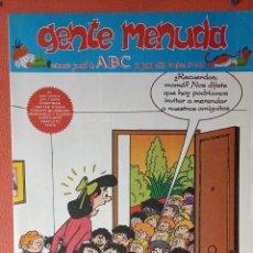 Cómics: GENTE MENUDA. SEMANARIO JUVENIL DE ABC. JUNIO 1995. N.º291. EDICIONES B, S.A.. Lote 261571405