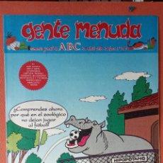 Cómics: GENTE MENUDA. SEMANARIO JUVENIL DE ABC. ABRIL1995. N.º285. EDICIONES B, S.A.. Lote 261673075